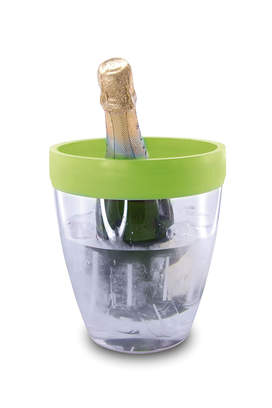 Silicone Topped Ice Bucket